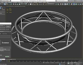 Circle Triangular Truss Full diameter 3D printable model