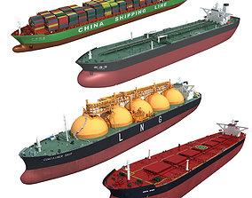 Cargo ships collection 3 3D model