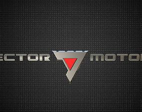 vector motors logo 3D model