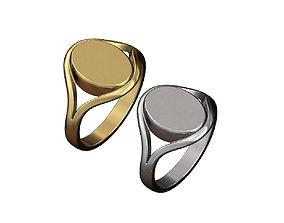 3D print model Engravable oval signet ring