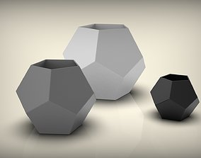 Dodecahedron Vase 100 150 200 3D printable model