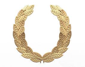 Gold Laurel Wreath 3D asset