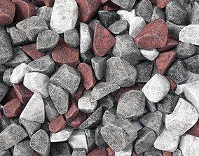3D Rock stone splinter n3