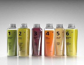 Juice Bottles 3D model