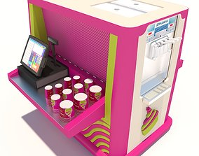 Cart Yogurt 3D model