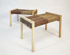 STUDIO VACEK Haluz bench by Tomas Vacek 3D