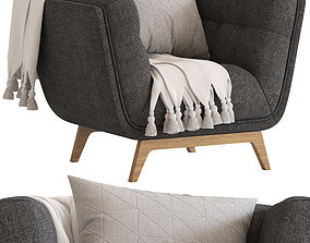 Cult Furniture Magnus Armchair 3D model