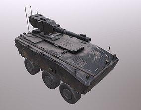 3D model VR / AR ready Low Poly Tank