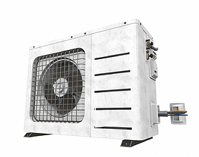 3D Air conditioner outdoor 5a