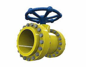 3D model Industrial pipeline valve 6