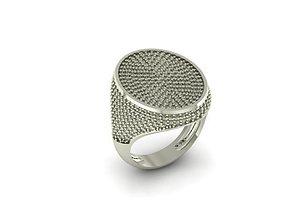 pave wedding ring 3D print model