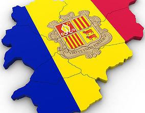 nations 3d Political Map of Andorra