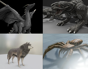 3D udk Game Ready Animals