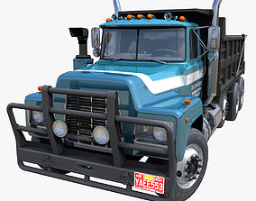 3D model 80s Industrial dump truck