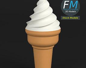 Stylized ice cream cone 3D model