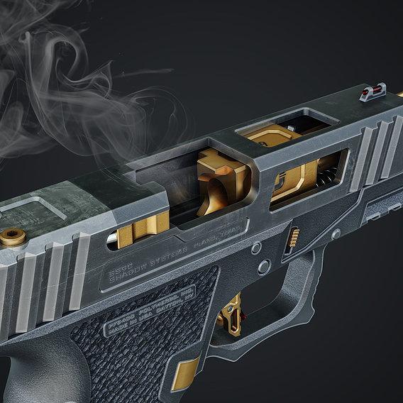 Glock Custom Shadow System Corps 3D model