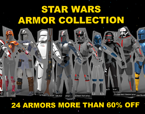 3D All of our Star Wars Armors