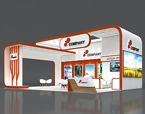 Exhibition Stand Booth Stall 10x8m Height 500cm 3 Side 3D