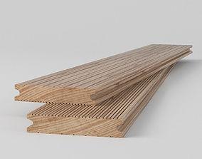 3D model Terrace Wood Floor Boarding Outdoor