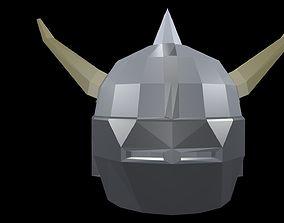 3D model Low poly Viking helmet