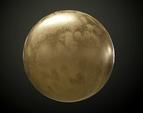 3D Metal Dirty Bronze PBR Texture
