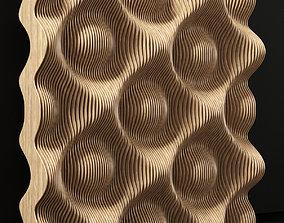3D Parametric wood panel Wave n2