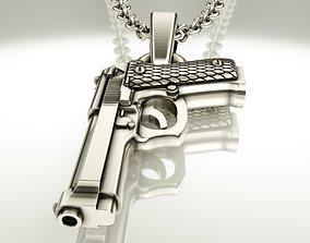 Beretta pistol 3D printable model