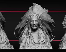 3D printable model Indian Bust Sculpture