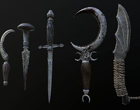 3D model Ritual knives