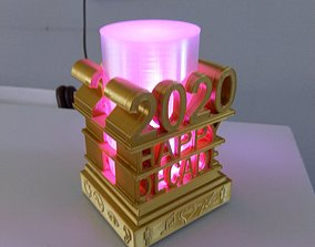 2020 Happy Decade Lamp 3D printable model happy-new-year