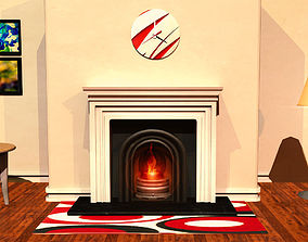3D Fireplace Mantle Interior