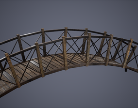 Forest Bridge Low Poly Game Ready 3D asset