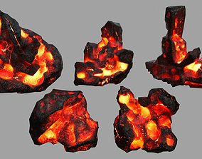 terrain Rock Set 3D model low-poly