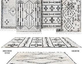 Scandinavian rugs set 3D model