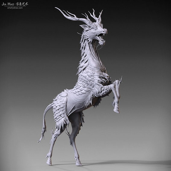 Kirin Digital Sculpture