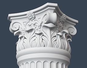 3D model Corinthian Column 007