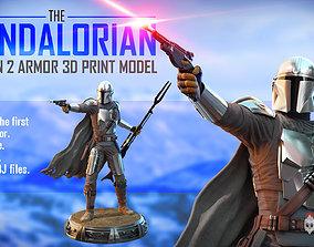 The mandalorian 3d print model warrior