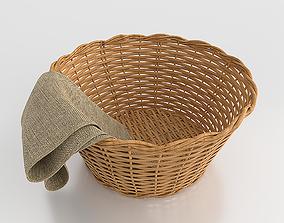 Wicker Basket 3D asset
