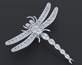 3D printable model Pendant in the form of a dragonfly 2