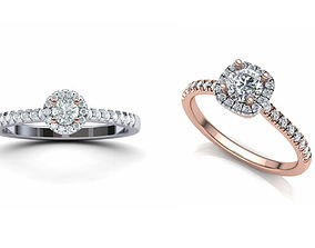 3D model Halo Rings Collection N001