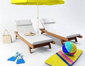 Beach set 3D