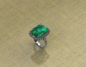 3D printable model Diamond Emerald Ring