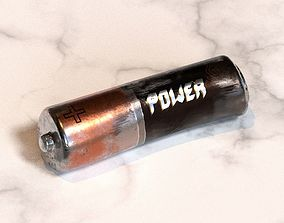 AA Battery 4K Textured Deformed Low-Poly game-ready 2