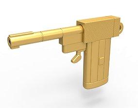Golden Gun Keyring 3D print model