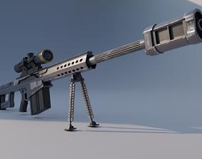 Barret M82A Anti materiel precision sniper rifle 3D model