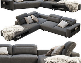 BoConcept Hampton corner sofa with storage 3D model
