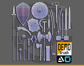 3D model IMM WeaponPack for ZBrush Demo