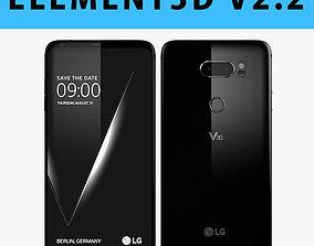 E3D - LG V30 Black 3D model