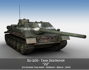 3D model SU-100 - 22 - Soviet Tank Destroyer
