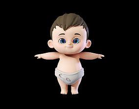 Cute Baby Boy 3D model